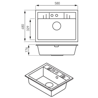 jednodelna-sudopera-DRGM1_48_58GA-crtez