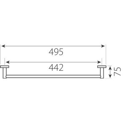 jednodelni-ravni-drzac-peskira-grace-ferro-AC07-1