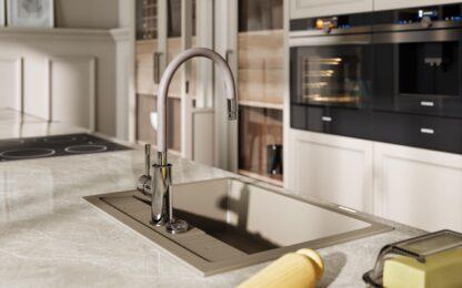 granitna-sudopera-u-bež-boji-i-baterija-za-kuhinju-sa-elasticnim-izlivom