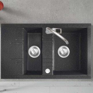 crna-sjaj-dupla-granitna-sudopera-sa-malim-ocedjivačem-DRGM3_48_79HA-sl